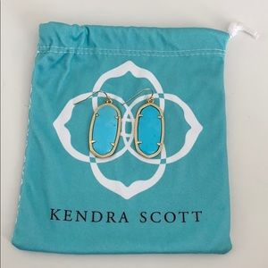 Kendra Scott Turquoise Hanging Earrings
